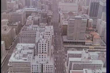 Aerial view of city — Stock Video
