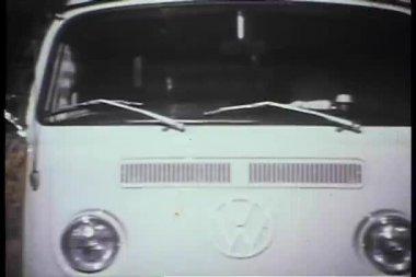 White van driving on road — Stock Video