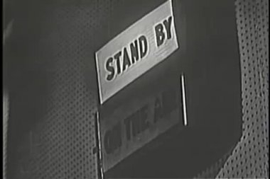 Stand By sign changing to On the Air — Stock Video