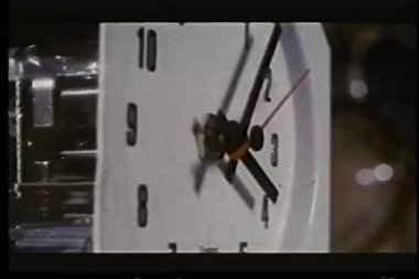 Close- up of clock with minute hand moving — Stock Video #26665655