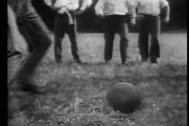 Schoolboys playing rugby — Stock Video