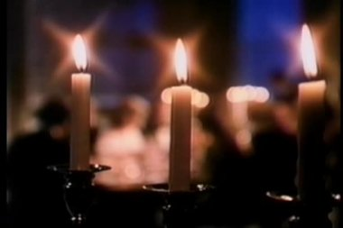 Dinner party by candle light — Stock Video