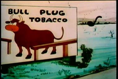 公牛广告牌用完了 — 图库视频影像