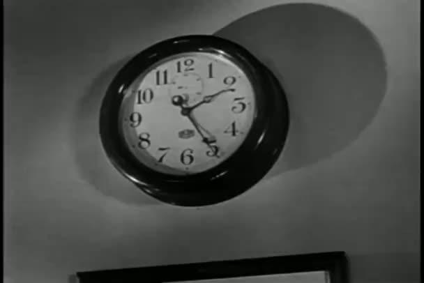 Animados reloj cu-cú enojado aves — Vídeo de stock