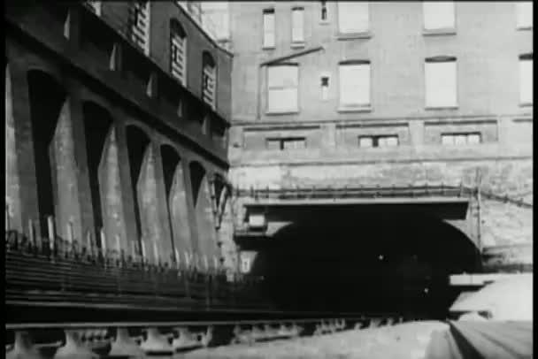 Metro de túnel — Vídeo de stock