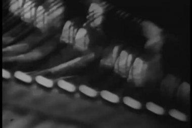 Insidan av piano — 图库视频影像