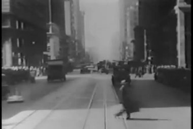 New york city streets from car — Stock Video