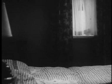 Otel yatak odası — Stok video