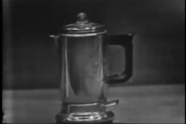 кофе кофеварка — Стоковое видео