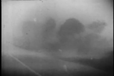 Hurricane blowing across road — Stockvideo
