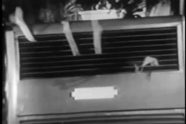 Air from air conditioner blowing ribbons — Video Stock