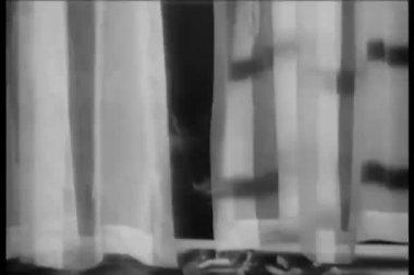 Cigarettes burning on windowsill — Stok video