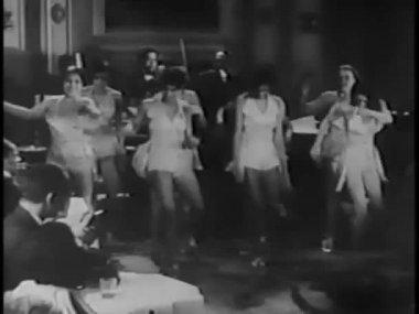 Tap dancers performing in nightclub — Stok video
