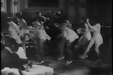 Tap dancers performing in nightclub — Wideo stockowe