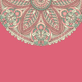 Beautiful color pink lace — Stock Vector