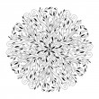 Monochrome black and white lace ornament vector — Stockvektor