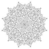 Monochrome black and white lace ornament vector — Stock Vector