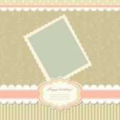 Retro baby frame vintage photo — Stock Vector
