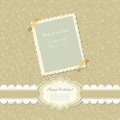 レトロなベビー フレーム ビンテージ写真ベクトル — ストックベクタ