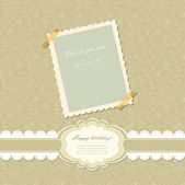 Retro baby frame vintage photo vector — Cтоковый вектор