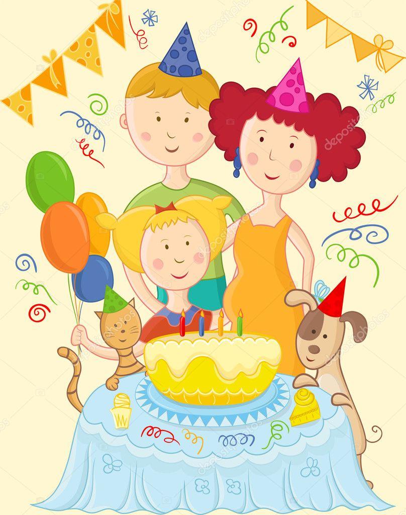 Поздравления с днем рождения всей семьи в один день