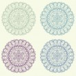 Set of vintage ornament background vector — Stock Vector