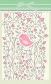 Karta na Walentynki z ptak wektor — Wektor stockowy