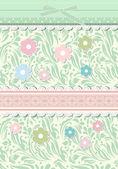 Rosa bakgrund för alla hjärtans dag kort vektor — Stockvektor