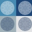 Set of vintage snowflake on blue background vector — Stock Vector