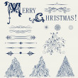 Set of element design for new year card vector — Image vectorielle