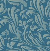Vintage blue floral background vector — Stock Vector