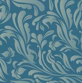 Vintage blue floral background vector — Stock Vector