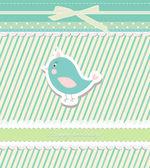 Vintage doodle bird for frame wallpaper vector — Stock Vector