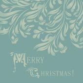 Vackert god jul kort vektor eps 10 — Stockvektor