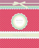 Vintage background for invitation card vector — Stock Vector