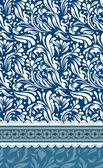 情人节一天卡矢量的蓝色背景 — 图库矢量图片