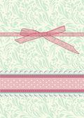 レトロ花柄グリーティング カード ベクトル — ストックベクタ