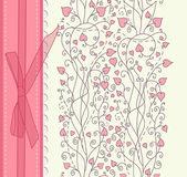 Roze achtergrond voor valentijn dag kaart vector — Stockvector
