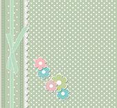 Retro-mode floral grußkarte vektor — Stockvektor