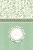 Tarjeta de felicitación floral vector de moda retro — Vector de stock