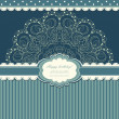 Beautiful invitation with lace vector — Stock Vector