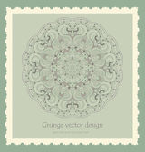 Beautiful vintage lace pattern background vector — Stock Vector