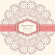 Invitation card with lace vector — Stock Vector