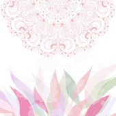 Spring greeting card with lace vector — Stock Vector