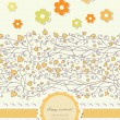 Autumn background with lace vector — Stock vektor