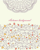 Autumn background with lace vector — ストックベクタ