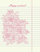 Hand drawing sketch flower vector — Stock Vector