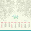 Calender of 2014 year — Stock Vector