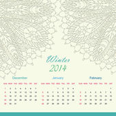 Kalender 2014 år — Stockvektor