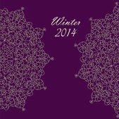 Purple invitation merry Christmas — Stock Vector